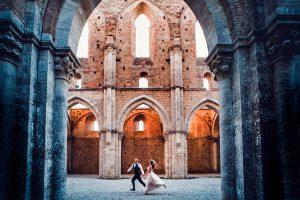 wedding abbey of san galgano